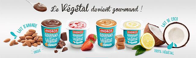 testez les desserts Andros Gourmand et Végétal