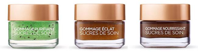 testez un gommage Sucres de Soins de L'Oréal Paris avec Sampleo