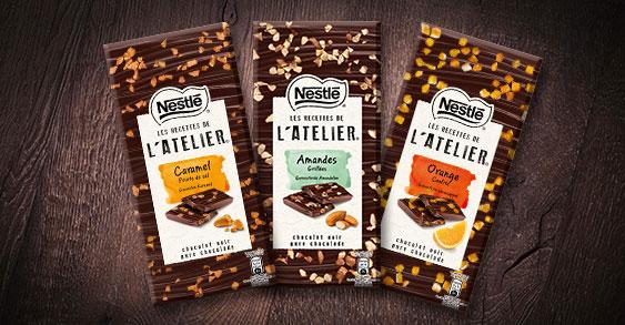 testez les nouvelles tablettes de chocolat Nestlé Les Recettes de l'Atelier