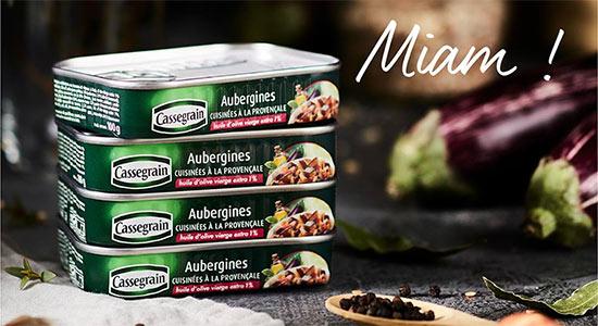 Boîtes offertes d'Aubergines à la Provençales de Cassegrain