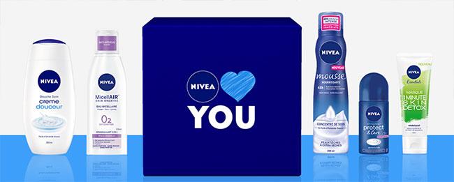 Tentez de remporter l'un des 20 lots de 5 soins avec Nivea Loves You
