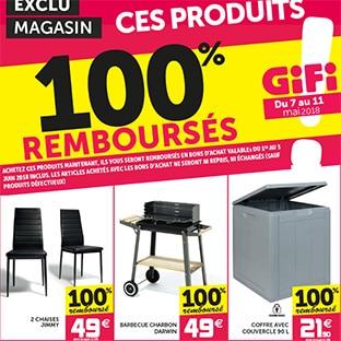 Gifi : 3 produits 100% remboursés (barbecue, chaises et coffre)