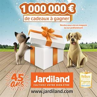Jardiland 45 ans : Jeu avec + de 107'000 cadeaux à gagner