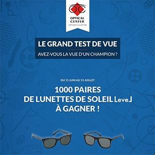 Jeu Optical Center : paires de lunettes gratuites