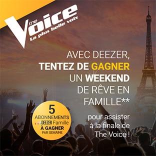 Jeu The Voice : 15 abonnements Deezer et 1 séjour de rêve