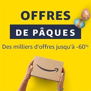 Amazon Pâques : Ventes flash jusqu'à -60% + 5€ de réduction