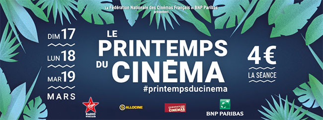 Printemps du Cinéma 2019 : Tarif réduit à 4€ la séance