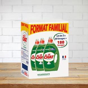 Carrefour : 3 bidons de 3L de lessive Le Chat à 12,30€ (-70%)
