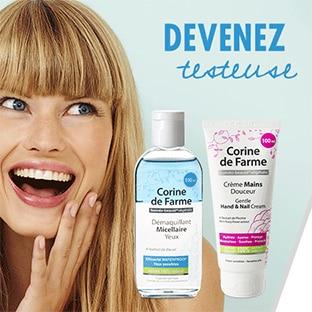 Test Corine de Farme : Démaquillants & Crèmes mains gratuits