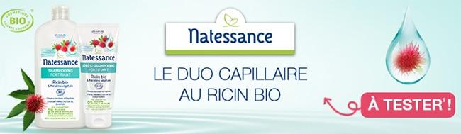 tester le shampooing et l'après-shampooing Ricin de Natessance