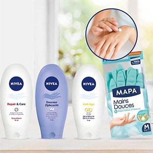 Test Nivea et Mapa : 200 soins pour les mains + gants gratuits