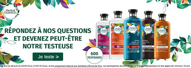 testez un shampooing et un après-shampooings pure:renew Herbal Essences