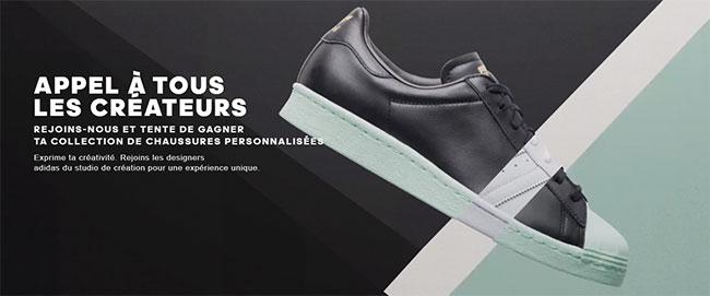 remportez 12 paires d'Adidas uniques et personnalisées