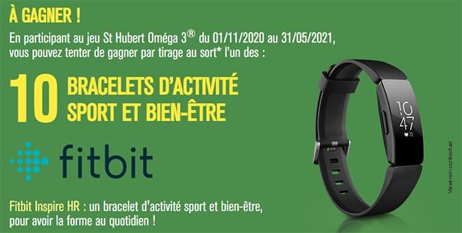 Tentez de remporter un bracelet d'activité Fitbit