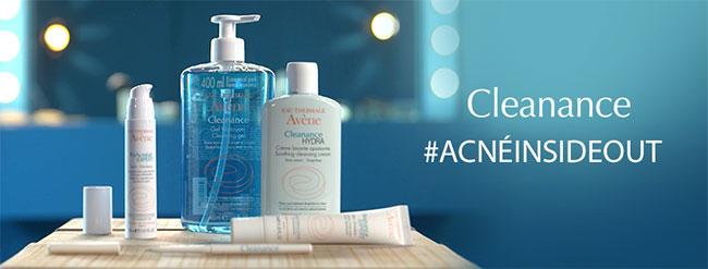 Avène Cleanance acné inside out