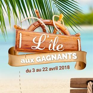 Jeux L'île aux gagnants Carrefour : 1374 cadeaux à gagner