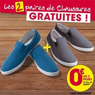 L'Homme Moderne : 2 paires de chaussures gratuites (hors fdp)