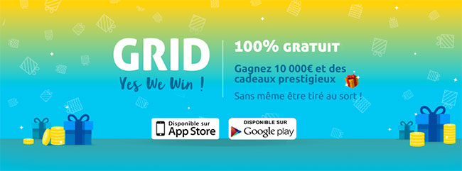 L'application Gridz loterie gratuite