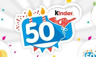 Jeu Kinder 50 ans : 520 cadeaux à gagner aux instants gagnants