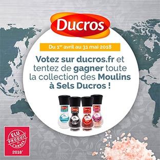 Jeu Ducros : 45 collections de 4 Moulins à Sels à gagner