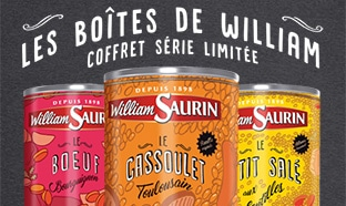 Jeu 120 ans William Saurin : 366 Coffrets Collector à gagner