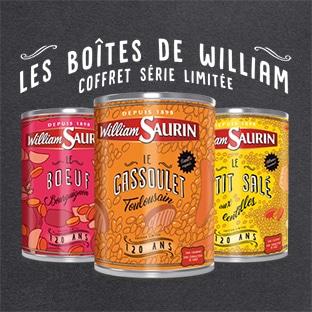 Jeu 120 ans William Saurin : 366 Coffrets Collector à gagner