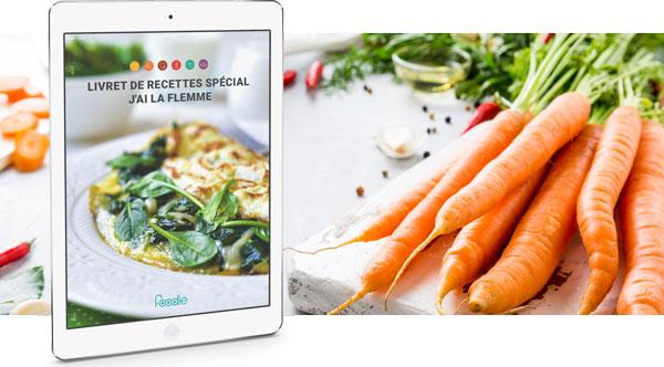 Obtenez gratuitement un livret de recettes personnalisées avec Foodle