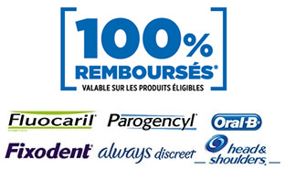 ODR P&G : 12 produits 100% remboursés (Oral-B, Always…)