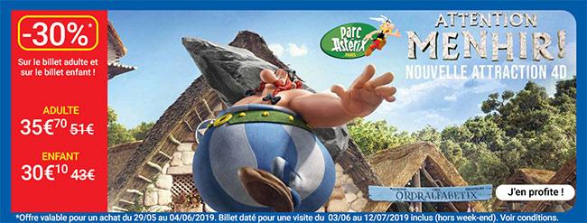 Entrées Parc Astérix pas chères avec Carrefour Spectacles