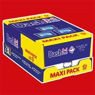 Promo Carrefour sur la Lessive en caspules Dash