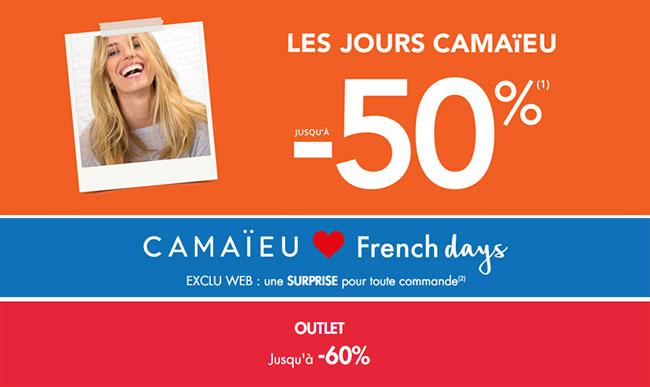 Promotions Camaieu pour les French Days 2018