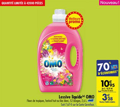 Promo OMO chez Carrefour