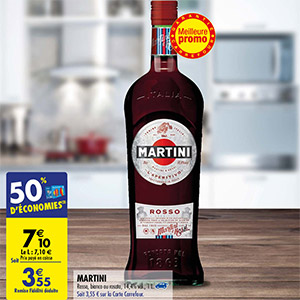 Promotion Martini chez Carrefour