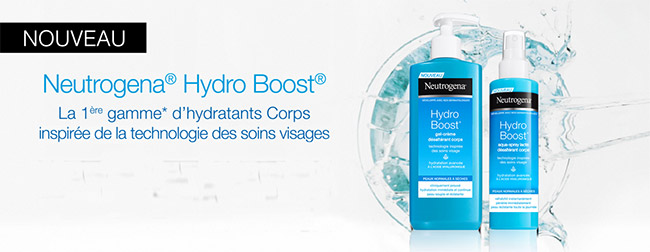 testez les soins corporels Hydro-Boost de Neutrogena