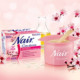 Test Nair : 100 cires Divine Sensitive gratuites