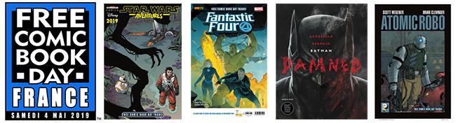 Des BD (Comics) gratuits aux Free Comic Book Day 2019