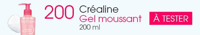 testez le gel moussant Créaline de Bioderma