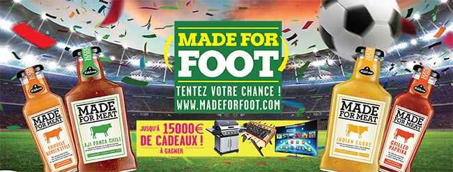 les cadeaux à gagner au jeu Made For Foot de Kühne