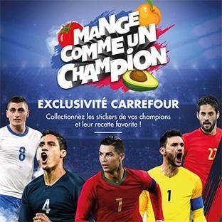 Autocollants foot Panini gratuits chez Carrefour