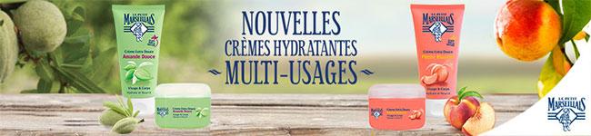 crèmes hydratantes multi-usages Le Petit Marseillais