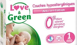 Échantillons gratuits de couches Love & Green