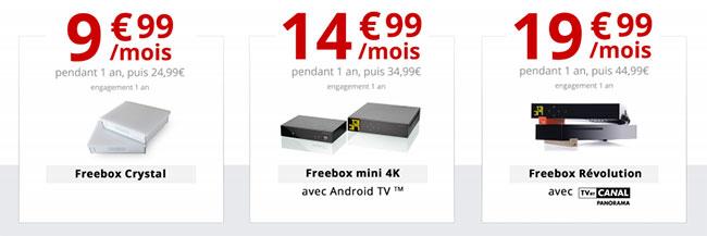 Les nouveaux forfaits Freebox