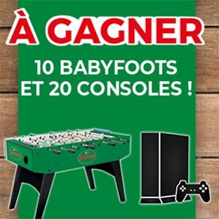 Jeu Croquons la Vie : 10 babyfoots et 20 consoles à gagner