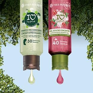 Jeu Yves Rocher : gels douche et shampooing concentrés