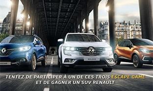 Jeu Mission SUV Renault : voiture à gagner