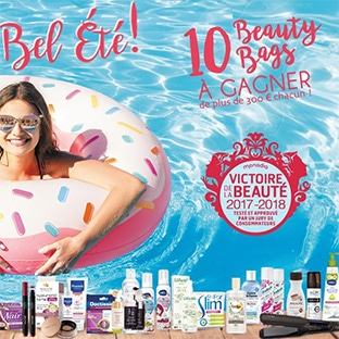 10 Beauty Bags (avec + de 300€ de produits de beauté) à gagner