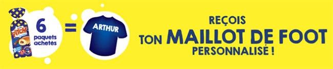 Maillot de l'équipe de France offert dès 6 produits Pitch achetés