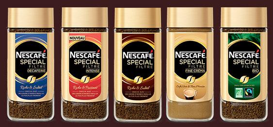 2 flacons de Nescafé Special Filtre gratuits