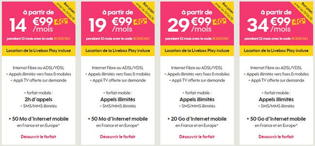 BOXSOSH : Sosh mobile + Livebox d'Orange en promotion