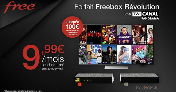 Vente Privée Free : Freebox Révolution TV by CANAL Panorama